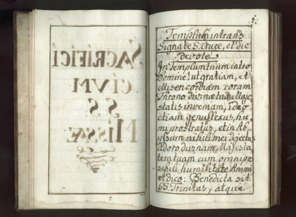 Sacrificicium S: S: Missae - Manuscript - Page 1