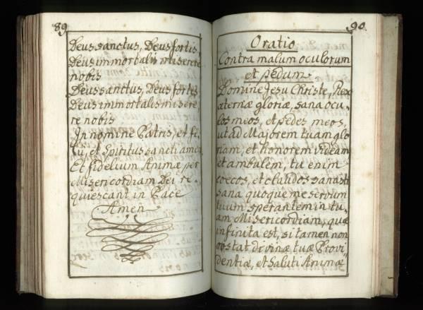 Sacrificicium S: S: Missae - Manuscript - Pages 89 (90) and 90 (91)