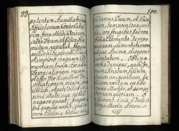 Sacrificicium S: S: Missae - Manuscript - Pages 99 (100) and 100 (101)