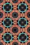 Orange and Teal Geometric Design