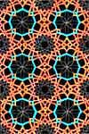 Orange and Teal Geometric Design