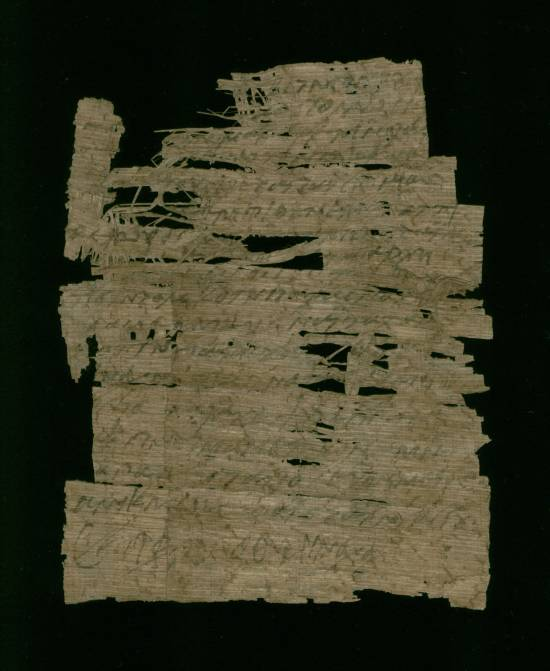 Letter written in Coptic on papyrus - Recto