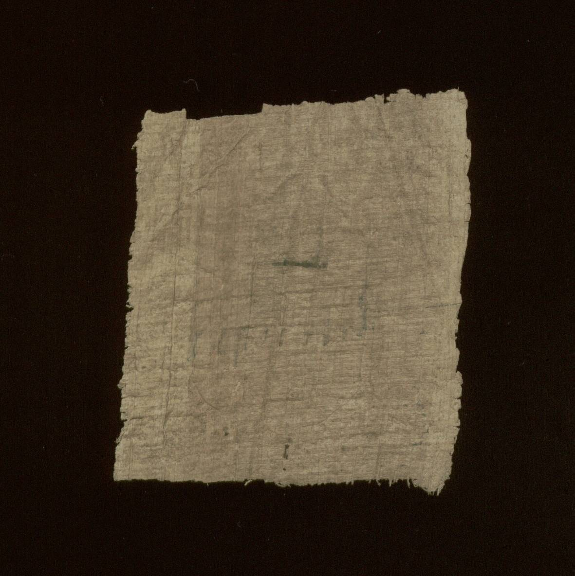 Greek Manuscript Fragment written on papyrus - Enlarged View - Verso