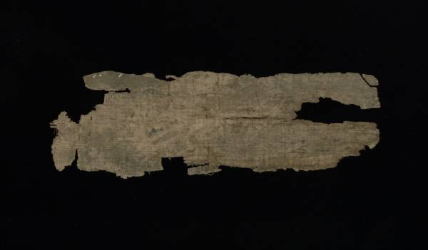 Greek Papyrus Fragment - Verso