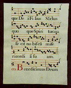Italian Choral manuscript page - circa 1720