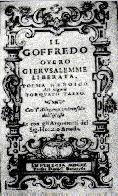 Title Page of Il Goffredo by Tasso (Venice, 1606)