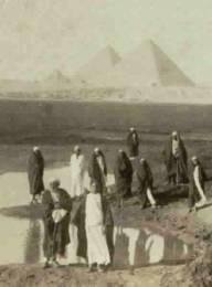 The pyramids at Gizah