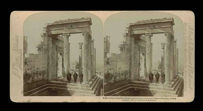 Greece - Athens - View of the Acropolis - North Portico of the Erechthelion.