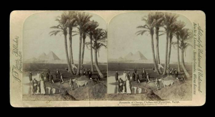 Pyramids of Cheops, Chefren and Myearinus, Egypt