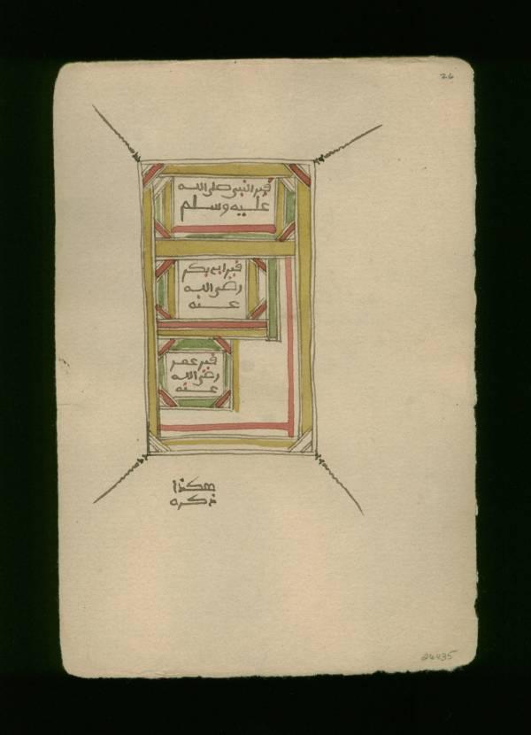 Folio 26b  from a dispersed manuscript copy of the Dalâ'il al-Khayrât